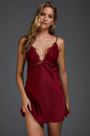 slipdress Satin Holly rood