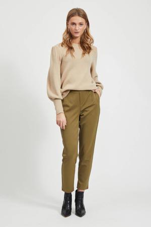regular fit pantalon olijfgroen