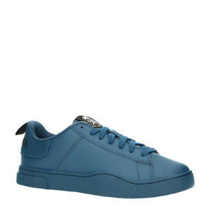 S-Clever Low Lace leren sneakers blauw