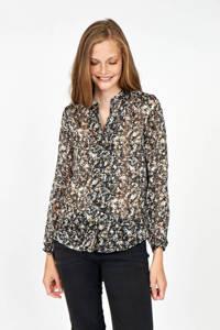 Soyaconcept blouse SC-LORENA 1 met all over print zwart, Zwart