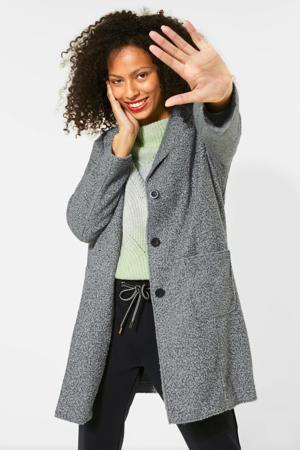 gemêleerde coat tussen grijs