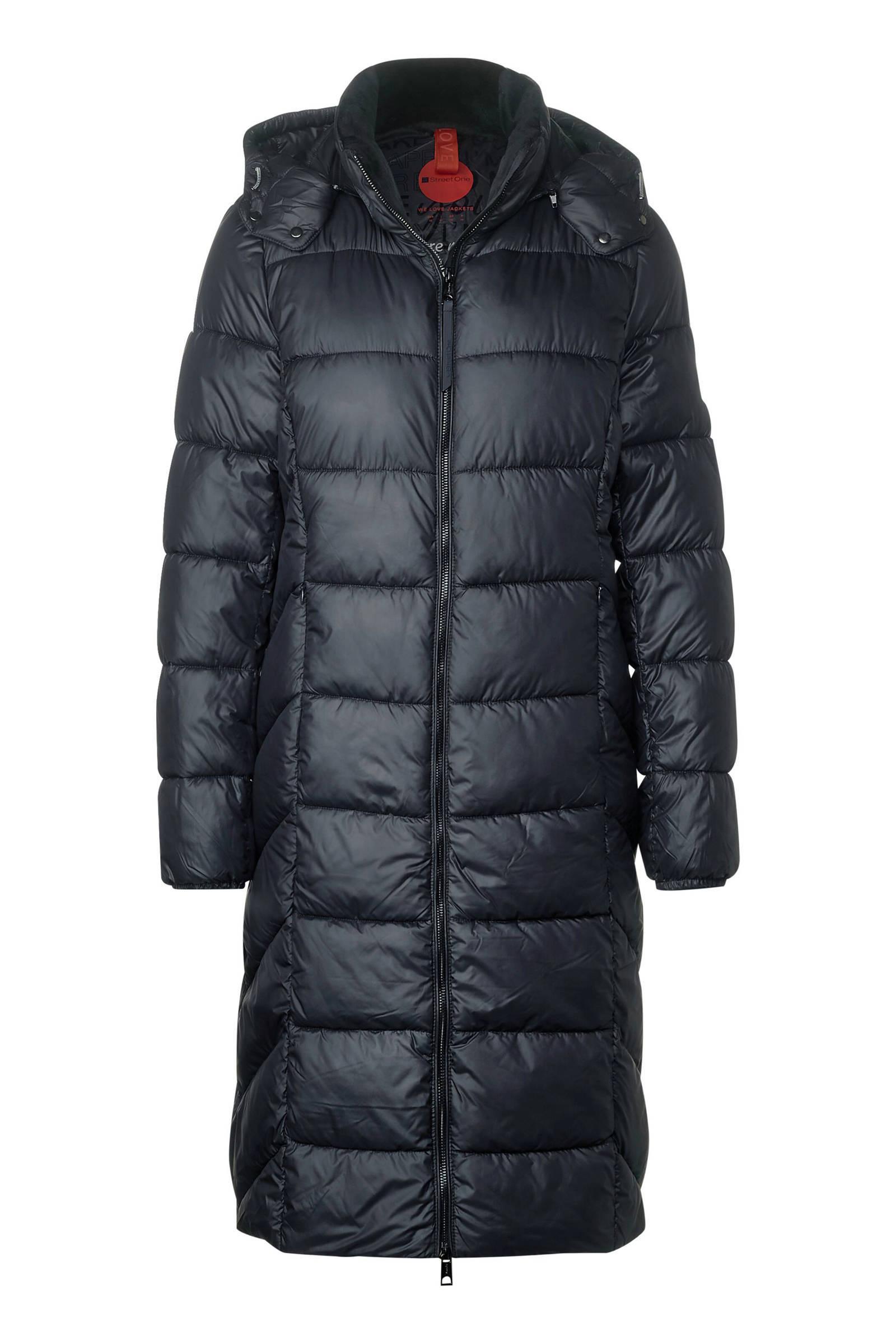 Street One gewatteerde jas donkerblauw | wehkamp