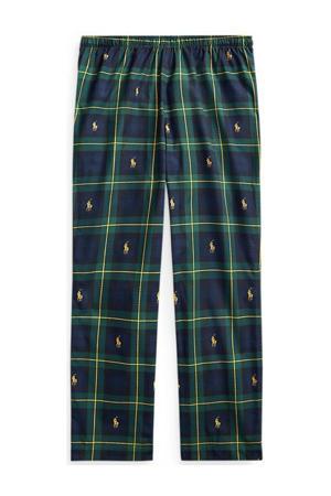 geruite pyjamabroek donkerblauw/groen