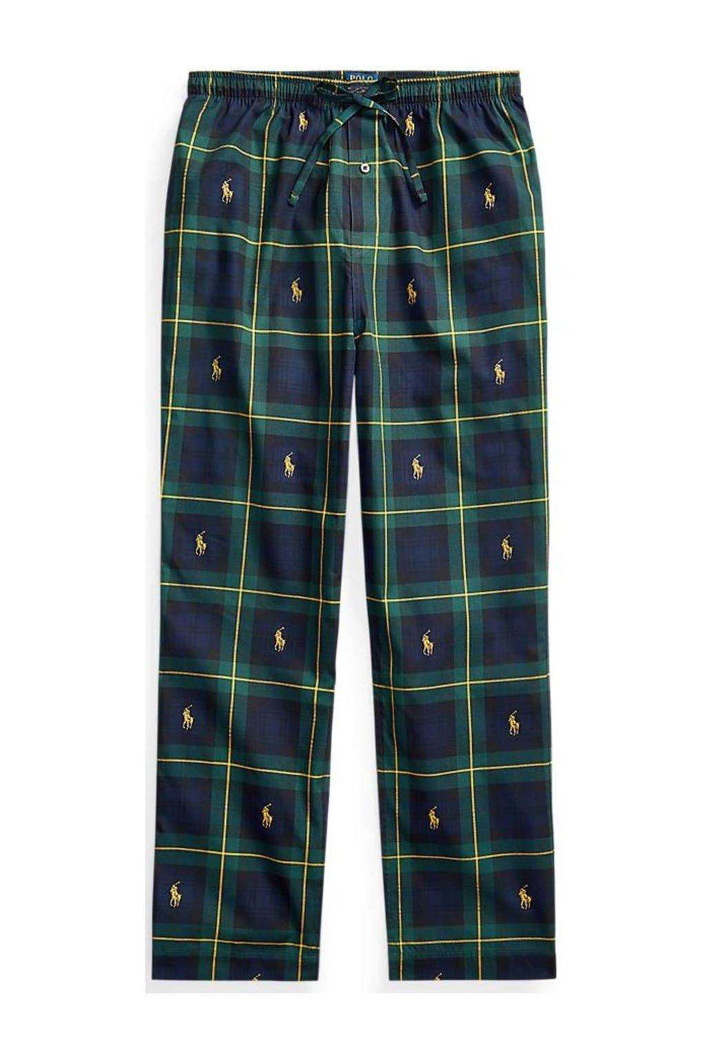POLO Ralph Lauren geruite pyjamabroek donkerblauw/groen, Donkerblauw/groen