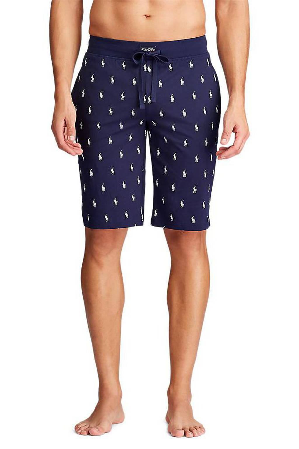 POLO Ralph Lauren pyjamabroek met all over print donkerblauw, Donkerblauw
