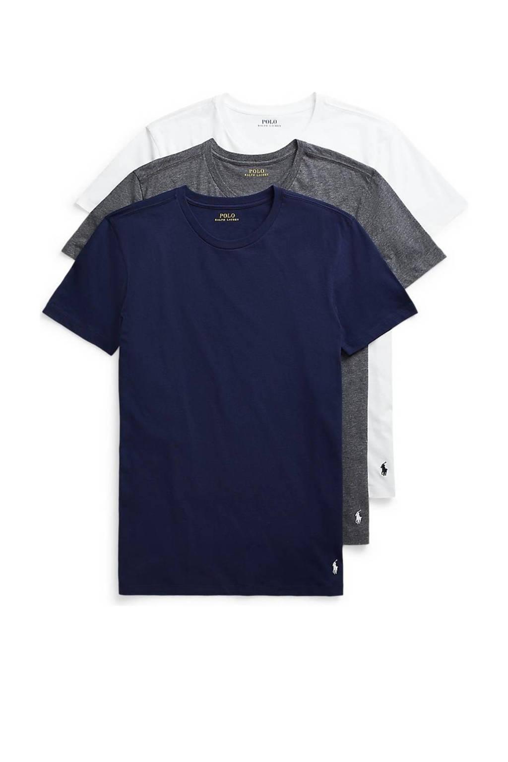 POLO Ralph Lauren T-shirt (set van 3), Marine/antraciet/wit