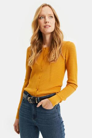 vest met textuur geel