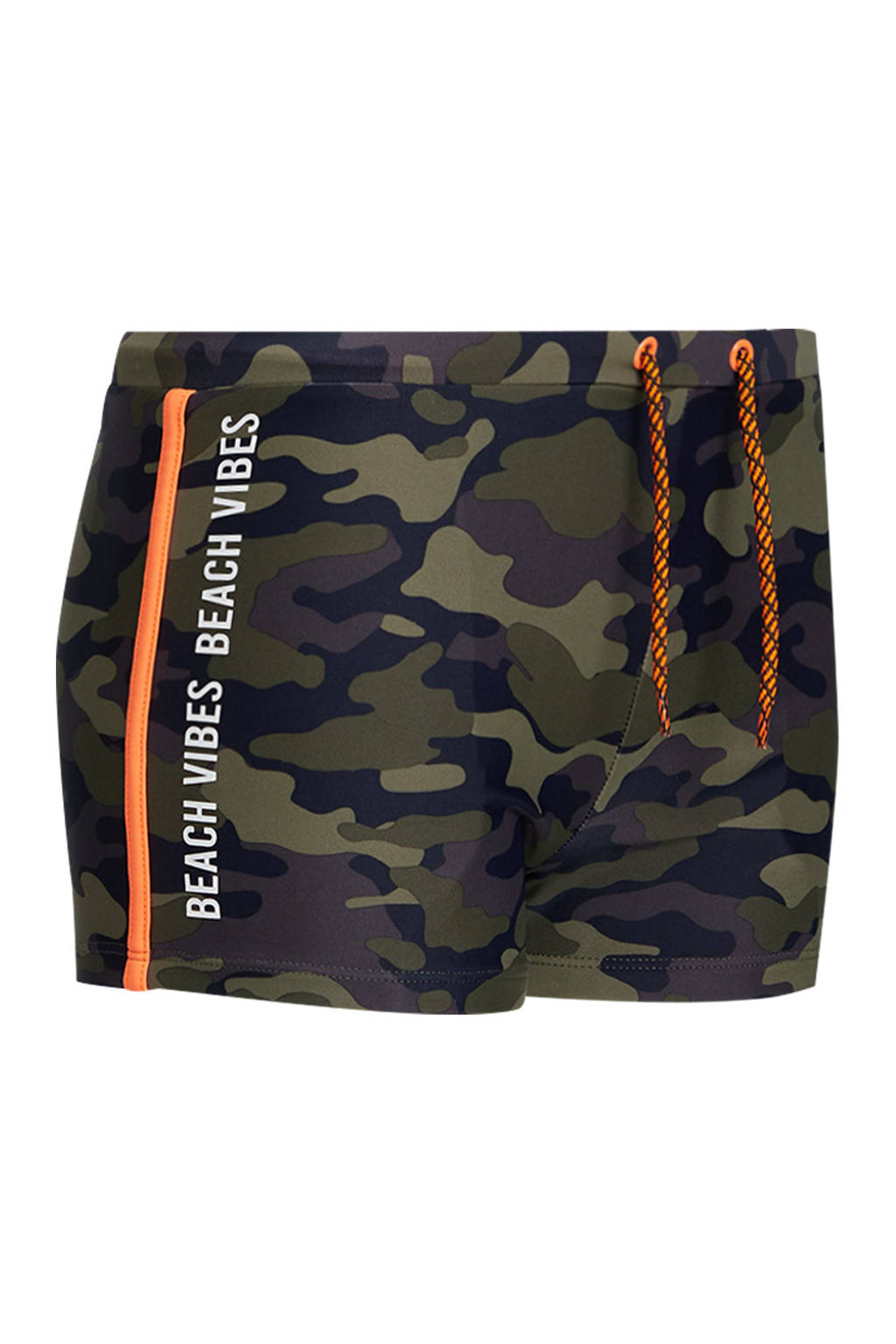 WE Fashion zwemboxer met camouflageprint legergroen, Legergroen