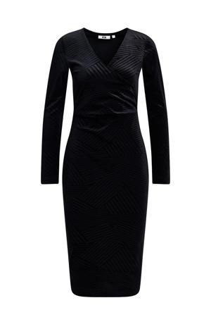 fluwelen jurk black uni