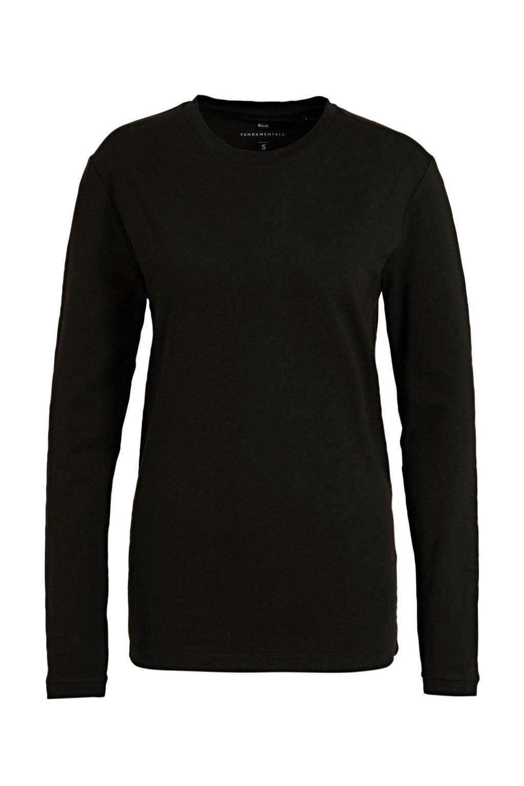WE Fashion longsleeve zwart, Zwart