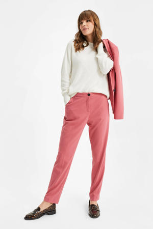 straight fit pantalon faded berry