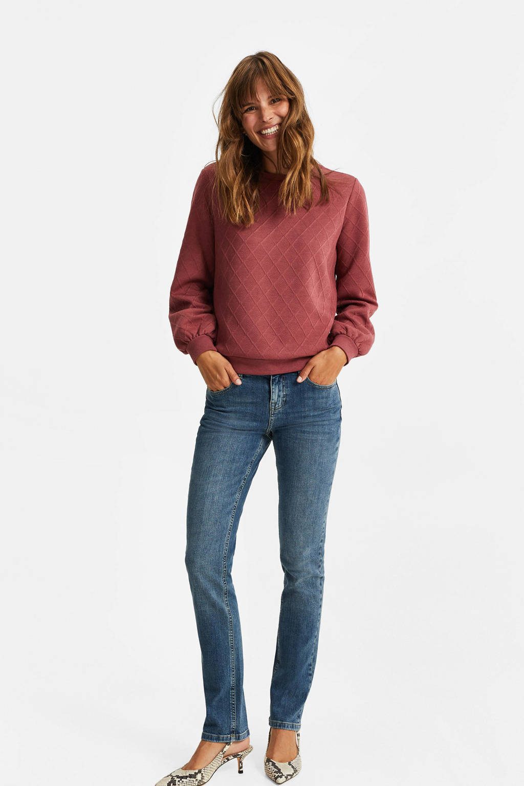 WE Fashion sweater oudroze, Oudroze