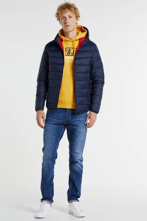 winterjas donkerblauw/rood