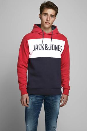 regular fit hoodie rood/blauw