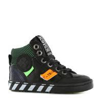 Shoesme Urban UR20W044-C hoge leren sneakers zwart, Zwart/multi