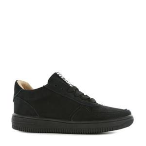 MU20W032-C  leren sneakers zwart
