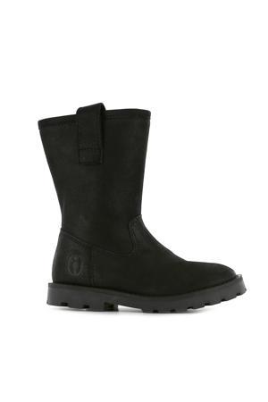TA20W017-A  leren laarzen zwart