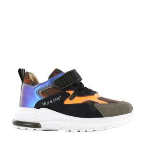 NR20W002-B leren sneakers zwart/multi