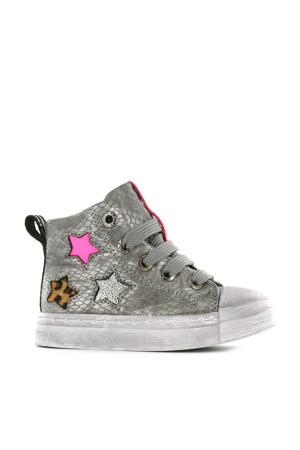 SH20W020-B hoge sneakers zilver/multi