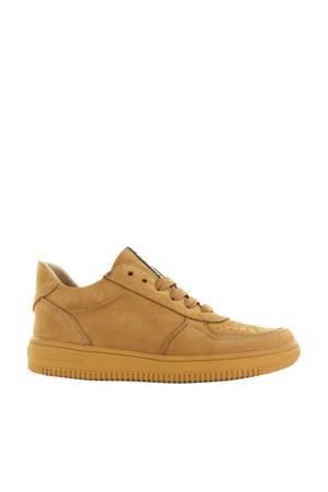 MU20W032-B  leren sneakers bruin