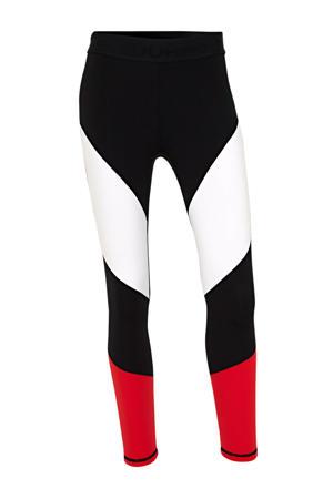 sportbroek zwart/wit/rood