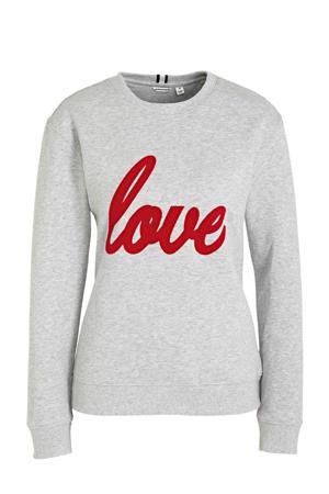 sweater grijs/rood