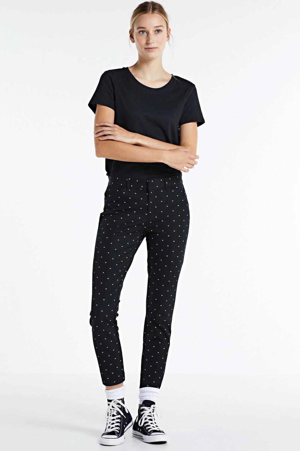 GAP skinny broek met all over print zwart, Zwart