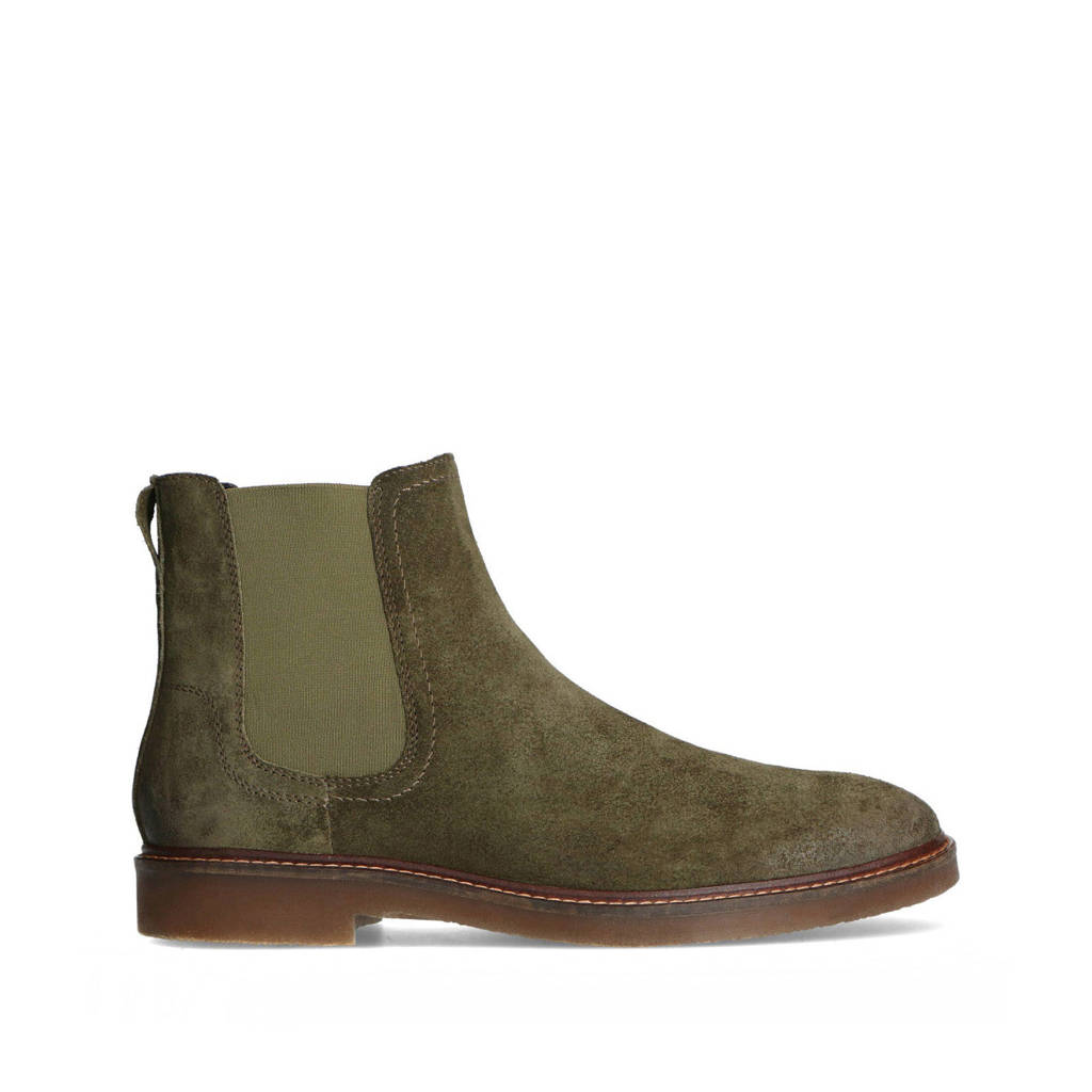Sacha   suède chelsea boots groen, Groen