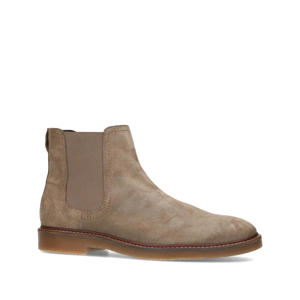 suède chelsea boots taupe
