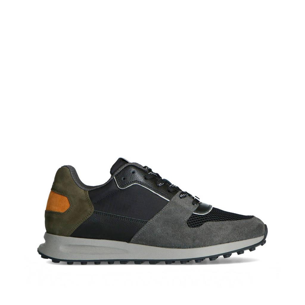 Sacha   leren sneakers groen/multi, Groen/multi