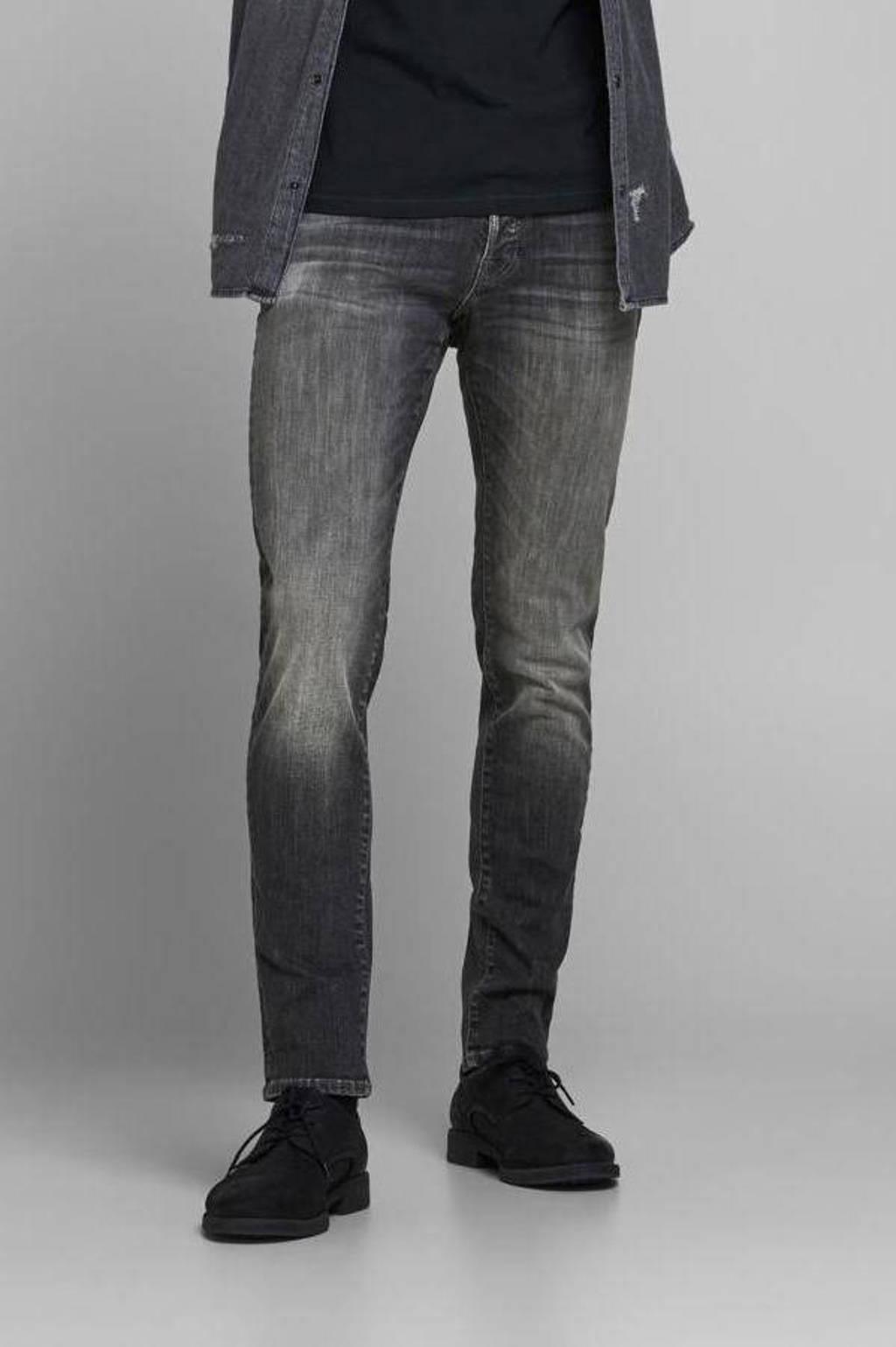 JACK & JONES JEANS INTELLIGENCE slim fit jeans JJIGLENN JJFOX met biologisch katoen zwart, Zwart