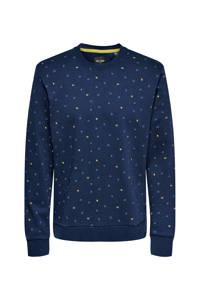 ONLY & SONS sweater van biologisch katoen marine, Marine