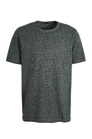 T-shirt van biologisch katoen groen/blauw