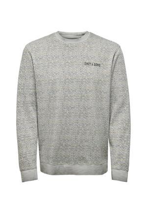 sweater van biologisch katoen grijs/kaki