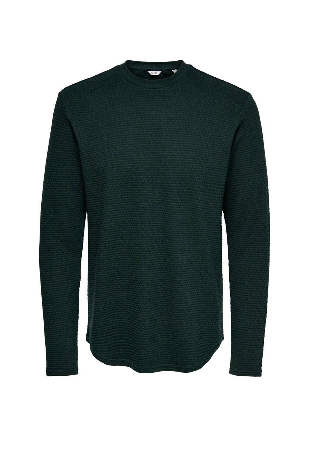 ONLY & SONS sweater van biologisch katoen donkergroen, Donkergroen