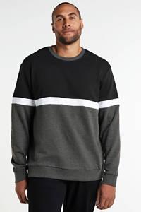 ONLY & SONS PLUS sweater van biologisch katoen zwart/grijs, Zwart/grijs