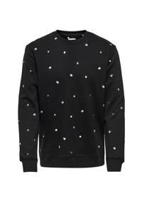 ONLY & SONS sweater van biologisch katoen zwart, Zwart