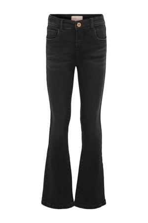 flared jeans Linn zwart