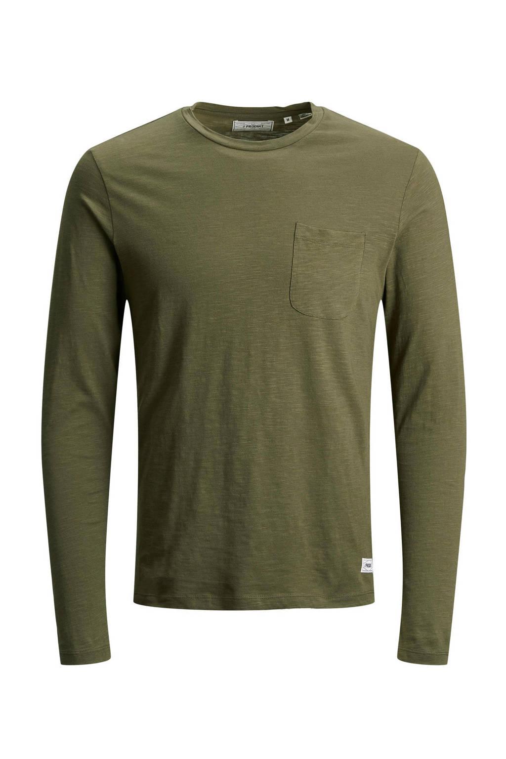 PRODUKT T-shirt olijfgroen, Olijfgroen