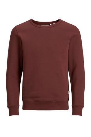 sweater met biologisch katoen roodbruin