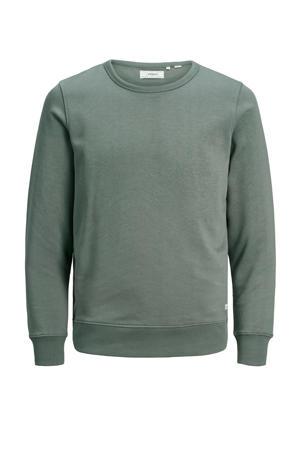 sweater met biologisch katoen grijsgroen