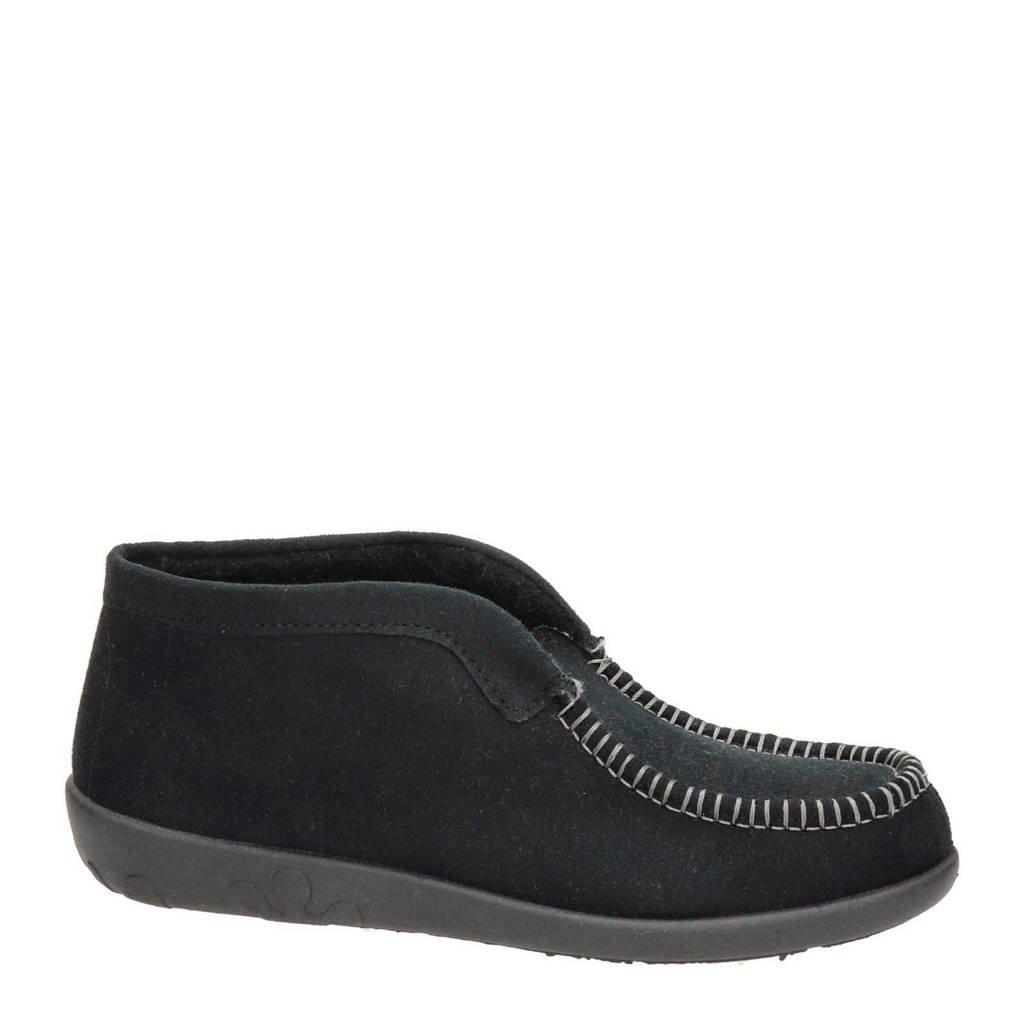 Rohde pantoffels zwart, Zwart