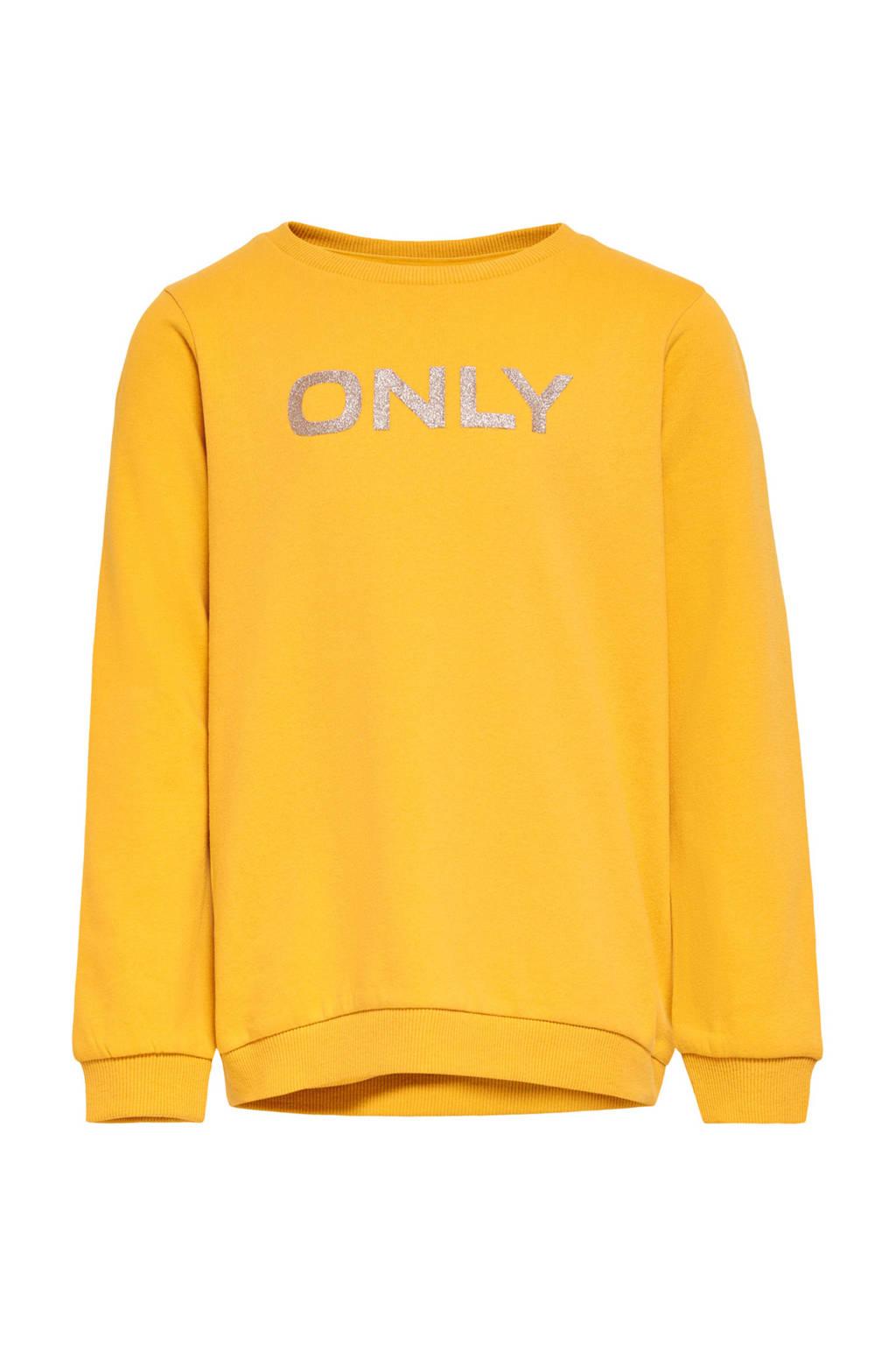 KIDS ONLY sweater Beat met logo geel, Geel
