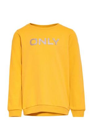 sweater Beat met logo geel