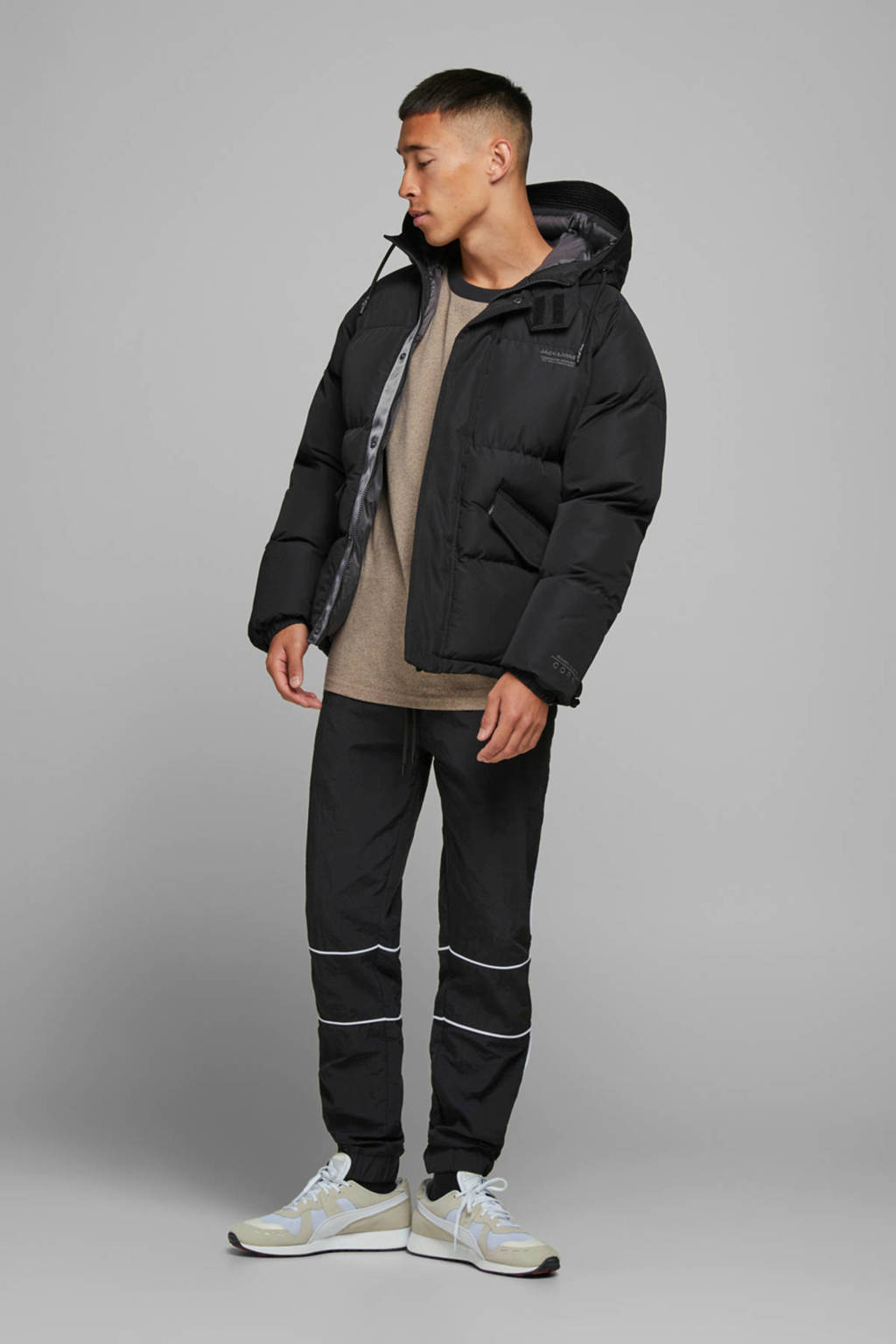 JACK & JONES CORE winterjas zwart, Zwart