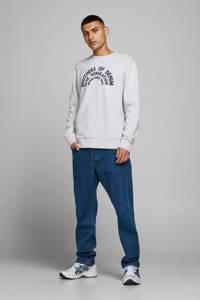 JACK & JONES ORIGINALS sweater met printopdruk grijs, Grijs