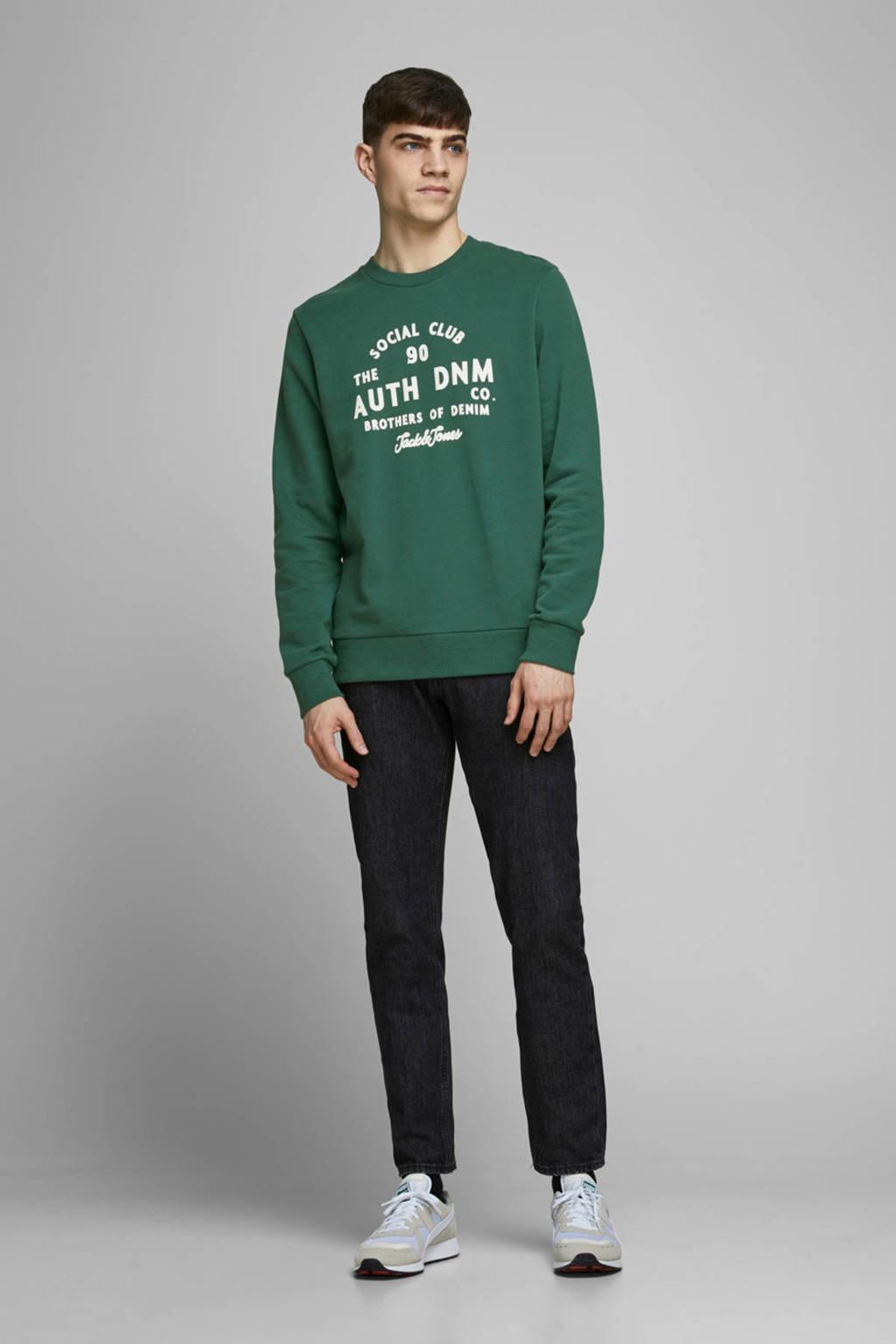 JACK & JONES ORIGINALS sweater met printopdruk groen, Groen