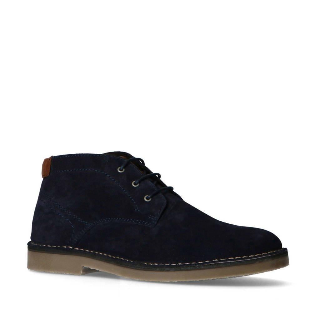 No Stress   suède desert boots donkerblauw, Donkerblauw