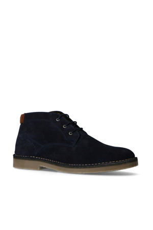 suède desert boots donkerblauw