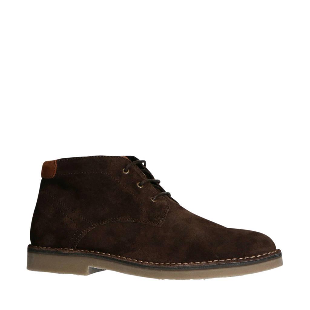 No Stress   suède desert boots donkerbruin, Donkerbruin